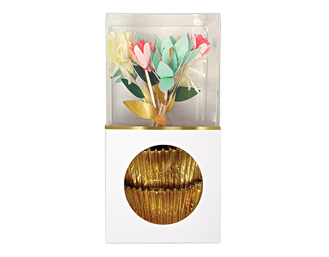 MERIMERI # Flower Bouquet Cupcake Kit