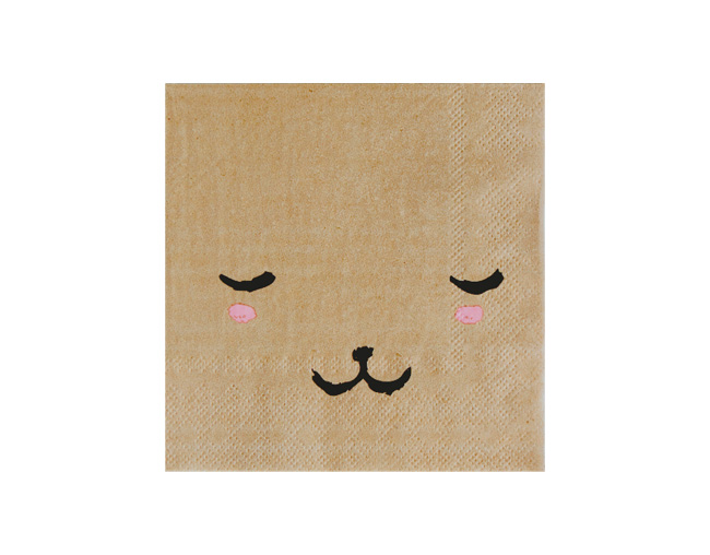 HARLOW & GREY # Bear Face Party Napkins